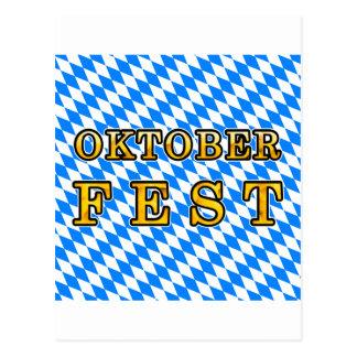 """Cartão Postal """"Oktoberfest"""" (esboço escuro)"""
