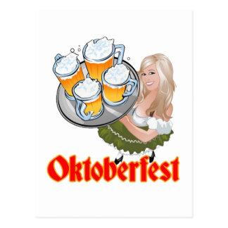 Cartão Postal Oktoberfest Mädchen