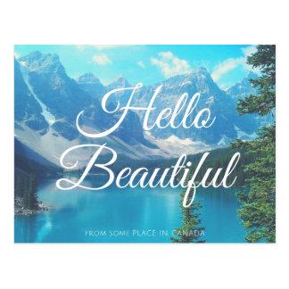 Cartão Postal Olá!, de algum lugar
