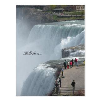 Cartão Postal Olá! de… Niagara Falls Canadá ny