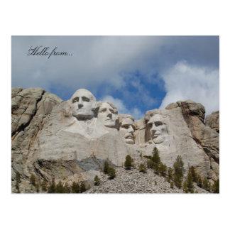 Cartão Postal Olá! de… O Monte Rushmore