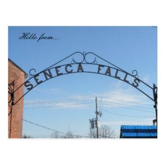 Cartão Postal Olá! de… Quedas do Seneca, NY