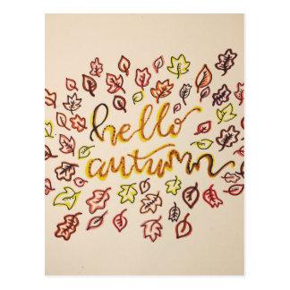 Cartão Postal Olá! outono