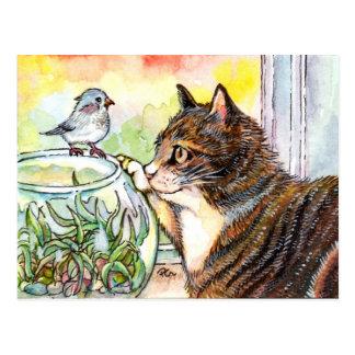 Cartão Postal Olá! pássaro pequeno