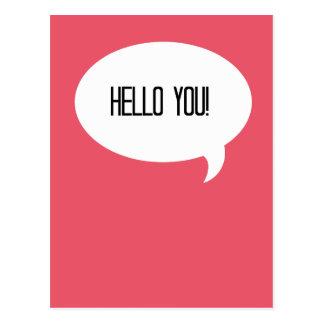 Cartão Postal Olá! você!