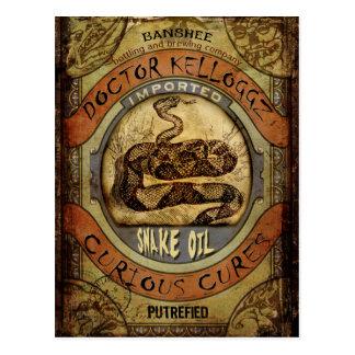 Cartão Postal Óleo de cobra