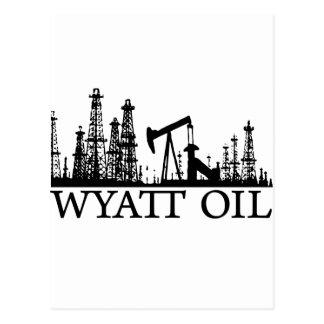 Cartão Postal Óleo de Wyatt/logotipo preto