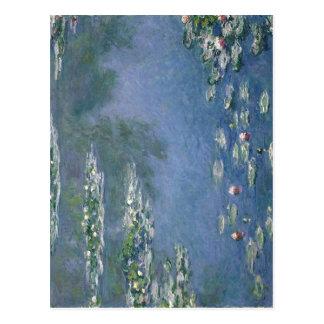 Cartão Postal Óleo dos lírios de água 1906 de Claude Monet nas