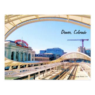 Cartão Postal Olhar contemporâneo da estação da união, Denver,
