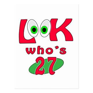 Cartão Postal Olhe quem é 27?