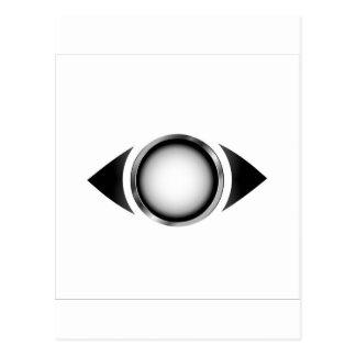 Cartão Postal Olho abstrato com a íris 3d