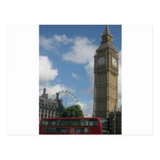 Cartão Postal Olho & Big Ben de Londres