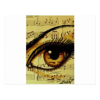 Cartão Postal Olho da música de Brown
