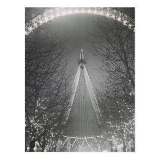Cartão Postal Olho de Londres do furo de pino