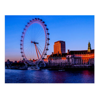 Cartão Postal Olho de Londres na noite