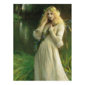 Cartão Postal Olhos assombrados Ophelia