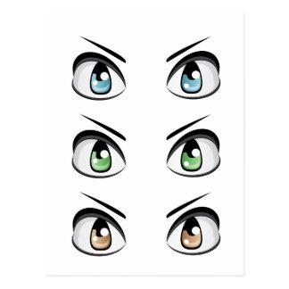 Cartão Postal Olhos masculinos ajustados