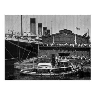 Cartão Postal Olimpiadas do RMS na placa de vidro 1911 do