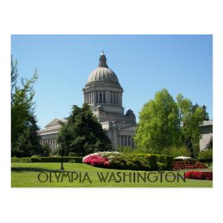 Cartão Postal Olympia, viagem do estado de Washington