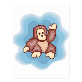 Cartão Postal Onda bonito do macaco