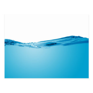 Cartão Postal Onda de água azul