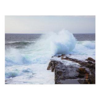 Cartão Postal Onda de Oceano Atlântico que deixa de funcionar na