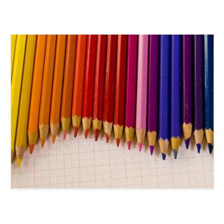 Cartão Postal Onda do lápis
