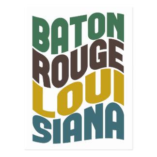 Cartão Postal Onda retro de Baton Rouge Louisiana