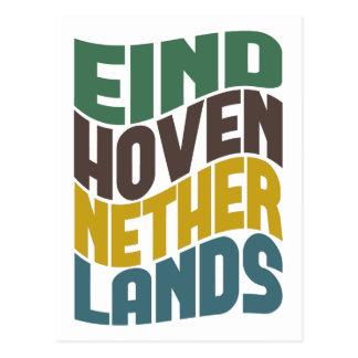 Cartão Postal Onda retro holandesa de Eindhoven