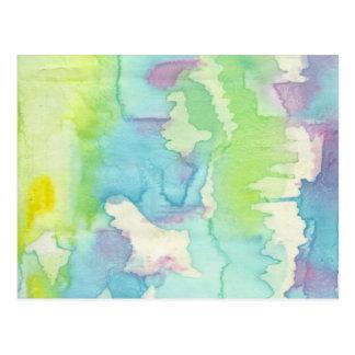 Cartão Postal Ondas coloridas água
