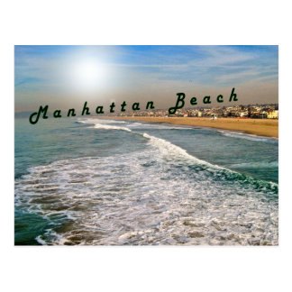 Cartão Postal Ondas de Manhattan Beach