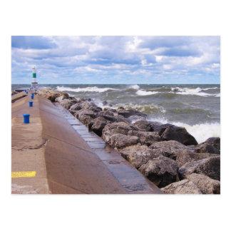 Cartão Postal Ondas do Lago Michigan