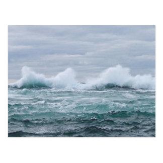 Cartão Postal Ondas que interrompem a ilha de Staffa