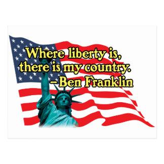 Cartão Postal onde a liberdade é v2