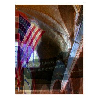 Cartão Postal Onde a liberdade está