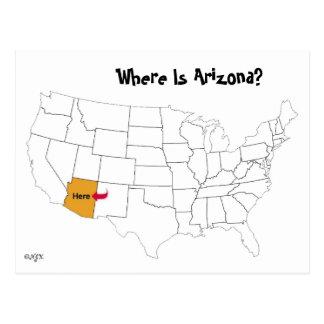 Cartão Postal Onde está a arizona?