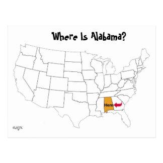 Cartão Postal Onde está Alabama?
