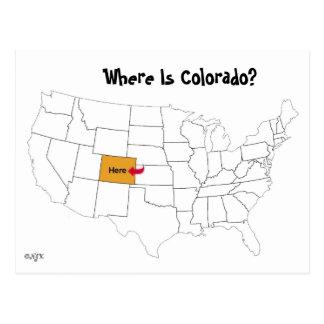 Cartão Postal Onde está Colorado?