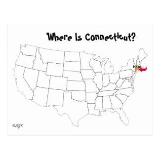 Cartão Postal Onde está Connecticut?