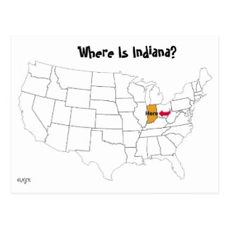 Cartão Postal Onde está Indiana?