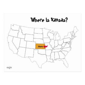 Cartão Postal Onde está Kansas?