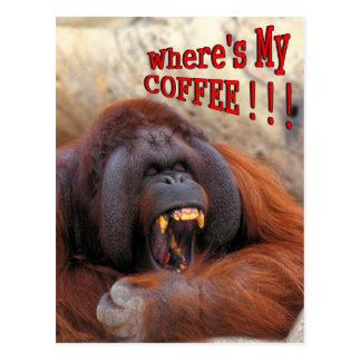 Cartão Postal Onde está meu café!!!