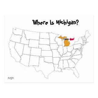 Cartão Postal Onde está Michigan?