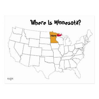 Cartão Postal Onde está Minnesota?