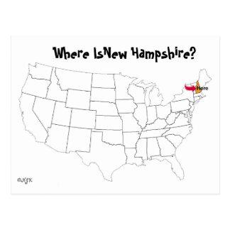 Cartão Postal Onde está New Hampshire?