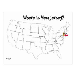 Cartão Postal Onde está New-jersey?