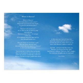 Cartão Postal Onde está o poema do céu