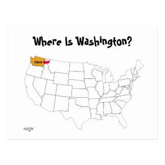 Cartão Postal Onde está Washington?