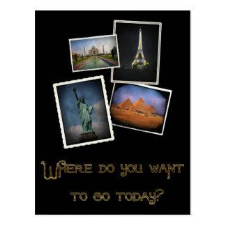 Cartão Postal Onde você quer ir?