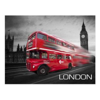 Cartão Postal Ônibus de Big Ben Londres